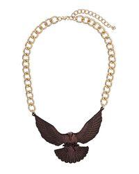 TOPSHOP - Metallic Bronze Eagle Collar Necklace - Lyst