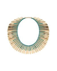 TOPSHOP - Green Mega Turquoise Stick Necklace - Lyst