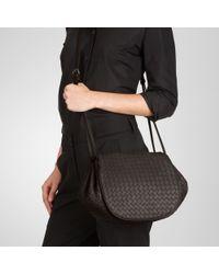 Bottega Veneta - Black Ebano Intrecciato Nappa Cross Body Bag - Lyst