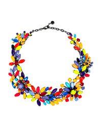 Tom Binns | Multicolor Riri Painted Swarovski Crystal Necklace | Lyst