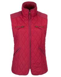 John Lewis - Pink Light Quilted Gilet Jacket - Lyst