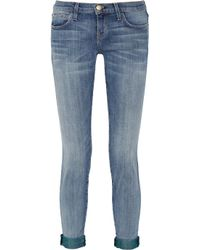 Current/Elliott | Blue The Rolled Skinny Cropped Midrise Jeans | Lyst