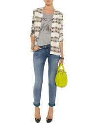 Current/Elliott - Blue The Rolled Skinny Cropped Midrise Jeans - Lyst
