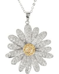 Kenneth Jay Lane - Metallic Plated Crystal Daisy Pendant Necklace - Lyst