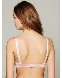 Free People - Gray Solid Mesh Moulded Demi - Lyst