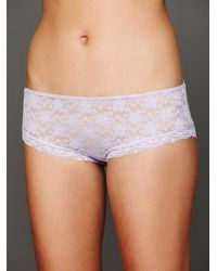 Free People | Purple Lacey Basic Hipster Brief | Lyst