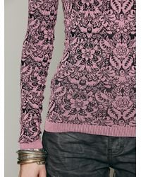 Free People - Pink Poncho Mama - Lyst