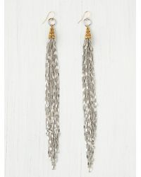 Vanessa Mooney | Metallic Chain Fringe Earring | Lyst