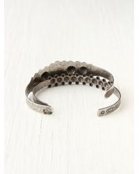 Free People - Gray Stone Cuff Double Set - Lyst