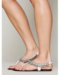 Free People | White Charmer Sandal | Lyst