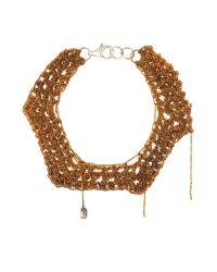 Arielle De Pinto | Metallic Two Tone Zig Zag Bracelet | Lyst