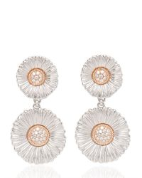 Buccellati | White Diamond Daisy Pendant Earrings | Lyst