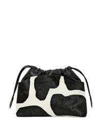 Burberry Prorsum - Black Small Cow Printed Ponyskin Bag - Lyst