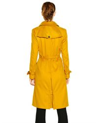 Burberry - Yellow Warborough Cashmere Coat - Lyst