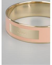 Chloé - Pink Enameled Bracelet - Lyst