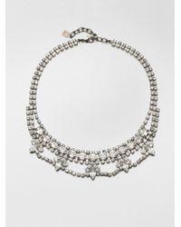 DANNIJO | Metallic Viktor Swarovski Crystal Mini Bib Necklace | Lyst