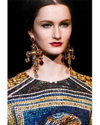Dolce & Gabbana | Metallic Large Cross Drop Earrings | Lyst