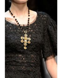 Dolce & Gabbana | Metallic Short Rosary Necklace | Lyst