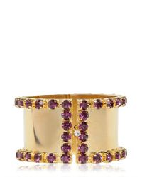 DSquared² | Metallic Swarovski Brass Cuff Bracelet | Lyst