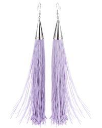 Eddie Borgo | Purple Fringed Tassel Earrings | Lyst