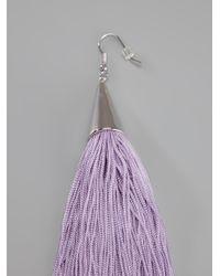 Eddie Borgo   Purple Fringed Tassel Earrings   Lyst