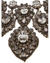 Erickson Beamon - Metallic Large Antiqued Rhinestone Necklace - Lyst