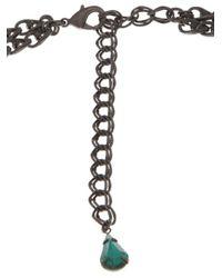 Erickson Beamon | Multicolor Oxidized Colored Stone Necklace | Lyst