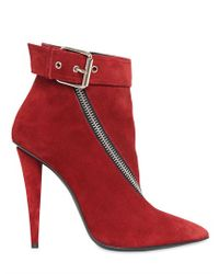 Giuseppe Zanotti | Red 110mm Suede Zipped Boots | Lyst