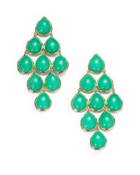 Ippolita | Green Mint Chrysoprase 18k Gold Cascade Earrings | Lyst