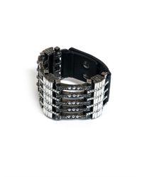 Lanvin | Gray Artdeco Crystal Bracelet | Lyst