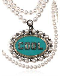 Lanvin - Multicolor Gloria Cool Removable Brooch Necklace - Lyst