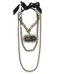 Lanvin - Multicolor Gloria Help Removable Brooch Necklace - Lyst