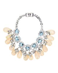 Mawi | Metallic Flower Gemstone Necklace | Lyst