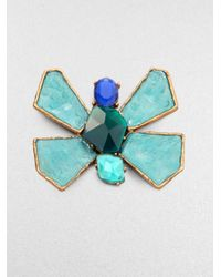 Oscar de la Renta | Multicolor Bright Butterfly Brooch | Lyst