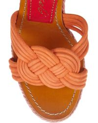 Paloma Barceló | Multicolor Mallorca Knotted Suede Espadrille Sandals | Lyst
