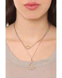 Rose Pierre | Metallic Snelled Fish Hook Necklace 16 | Lyst