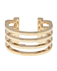 Saint Laurent | Metallic Cutout Cuff | Lyst