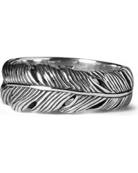 Seven London | Metallic Life Feather Ring | Lyst
