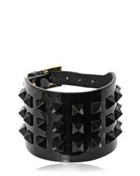 Valentino | Black Large Rockstud Punkouture Bracelet | Lyst