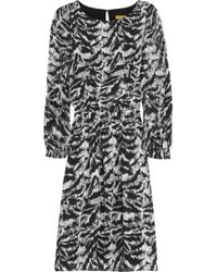 Alice + Olivia | Black Shovan Lace Detail Peplum Dress | Lyst