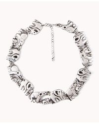 Forever 21 | Metallic Elephant Parade Necklace | Lyst