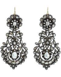 Olivia Collings - Gray Cut Diamond Long Day Night Earrings - Lyst