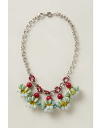 Anthropologie | Metallic Candy Cluster Pendant Necklace | Lyst