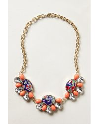 Anthropologie | Red Coventry Bib Necklace | Lyst