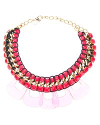Marina Fossati | Pink Beaded Statement Necklace | Lyst