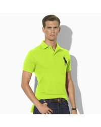 Polo Ralph Lauren | Green Custom Fit Big Pony Polo Shirt for Men | Lyst