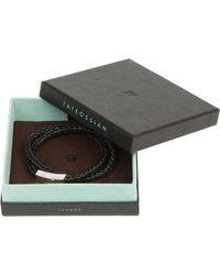 Tateossian | Black Monaco Plaited Leather Bracelet for Men | Lyst