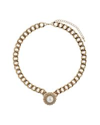 TOPSHOP | White Chain Wrapped Pearl Collar | Lyst