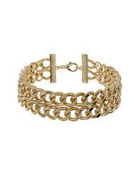 TOPSHOP | Metallic Chunky Curb Chain Choker | Lyst