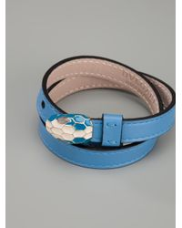 BVLGARI - Blue Snake Head Bracelet - Lyst
